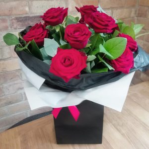 Sweetpea Macfie Chesterfield Florist Valentine's Day Red Rose Bouquet