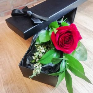 Sweetpea Macfie Chesterfield Florist Valentines Single Red Rose